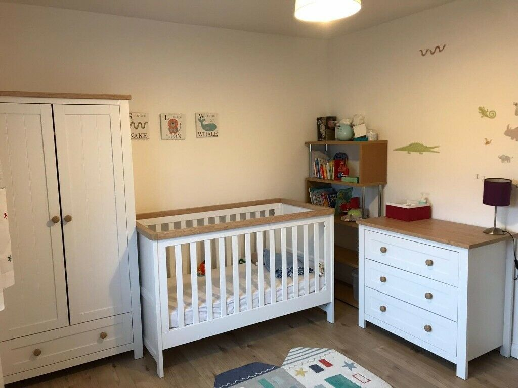 Mothercare Lulworth 3 Piece Nursery Furniture Set Cot Bed Drawer Changing Table Wardrobe In Orpington London Gumtree