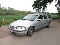 Volvo estate 2.4t petrol 2001, 7-seater automatic, drives but no mot or tax