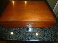 Antique Hardwood Jewellery Box