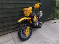 Kids electric motorbike and bicycle 4 to 5 year old