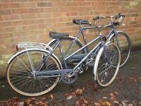Vintage Gents & Ladies BSA Metro bikes