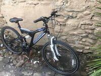 Muddy fox hypersonic 2.0 dual suspension mountain bike 18 gears 18 inch frame 26 inch wheels