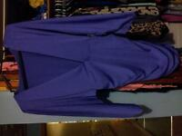Purple v-neck bar dress.