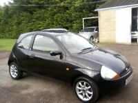 FORD KA 1-3 ZETEC CLIMATE 2008. PANTHER BLACK METALLIC. 87,000 MILES, MARCH 29th 2019 MOT, ANY TRIAL