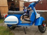 Vespa px125 very clean and tidy. New bearings,seals and cruciform.
