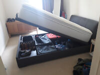 King Size bed frame (Mattress available as well)