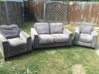 SOFA AND 2 MATCHING ARMCHAIRS. CAN DELIVER.