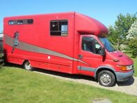 2004 IVECO 5.2T Horsebox with Living 3 Pony/2 Horse Low Mileage 12 Months MOT