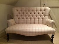 "Bampton Style Love Seat/Sofa Newly Upholstered in Laura Ashley ""ORTON CHECK"""