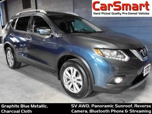 2014 Nissan Rogue SV AWD, Panoramic Sunroof, Rear Camera