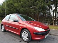 MARCH 2001 PEUGEOT 206 LX 1.4 PETROL 89k PANORAMIC SUNROOF EXCELLENT CONDITION MOT FEBRUARY 2017