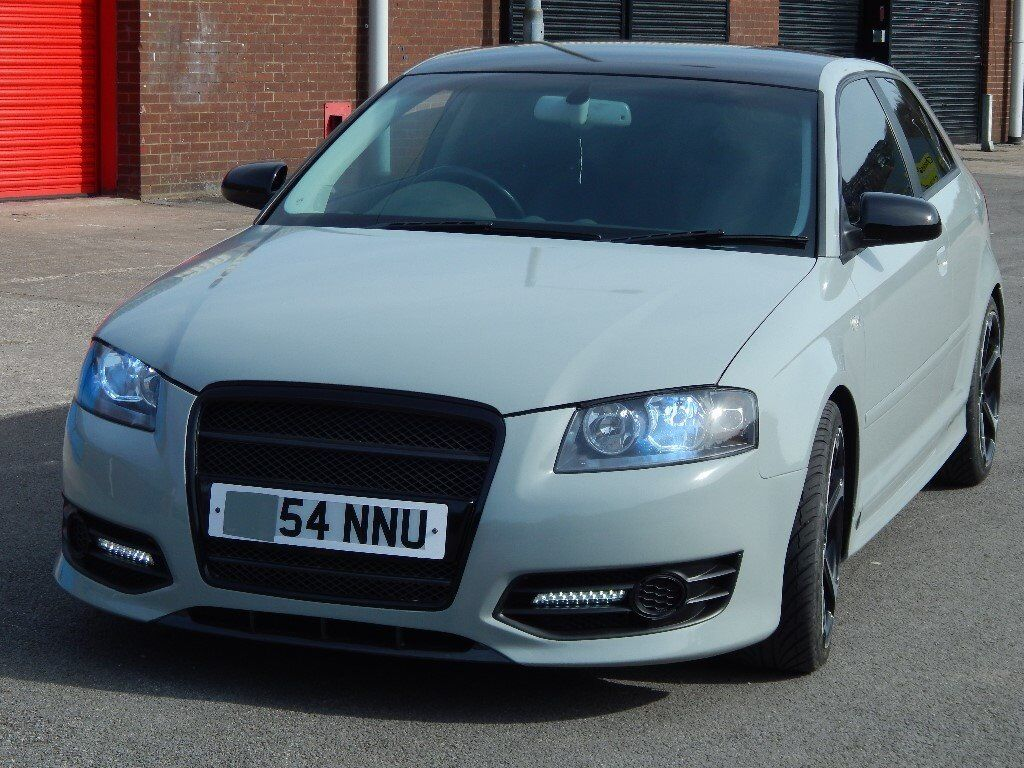 2005 audi a3 1 9 tdi se custom s3 replica wrapped in nardo grey in stalybridge manchester. Black Bedroom Furniture Sets. Home Design Ideas