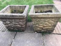 Very heavy flower pots