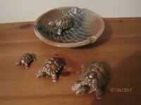 WADE tortoise dish + small Med and Lge tortoise set + WADE fish ornament