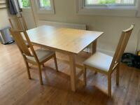 IKEA Norden extendable table + 3 chairs