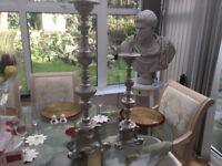 Beautiful pair of stand candle holders