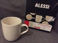 Alessi porcelain mugs, new, boxed, set of 6