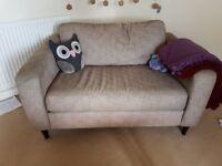 Modern single sofa, beige, very good condition