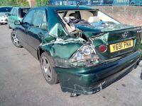lexus is 200 2001 spares or repair
