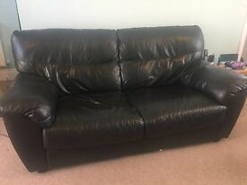 2 x Sofa's - Faux black leather - Great condition