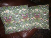2 WILLIAM MORRIS STRAWBERRY THIEF FILLED CUSHIONS - 22""
