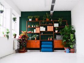 Desk Space in Hackney Wick Studio with Free Yoga!