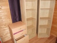 Bookcase and small filing drawer
