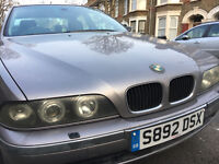 BMW 520i with LPG cheap to run at 45.9p pltr Angel eye halogen headlamps ABS light on no odometer