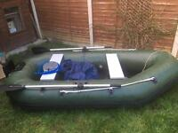 Inflatable boat fishing tender dinghy