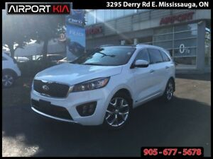 2016 Kia Sorento SX Turbo/NAV/PANO ROOF/AWD/LEATHER /ALLOYS