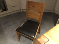 Sterling solid oak dining table and 4 chairs