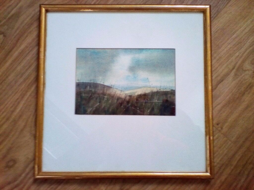 Stunning watercolour by a local artist.Beryl Bowser. Unique excellent Xmas present Framed in Lincoln