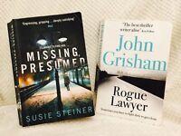 2 Thriller Books Missing Presumed Susie Steiner Rogue Lawer John Grisham Bundle
