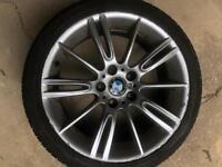 "GENUINE 3 SERIES BMW MV3 18"" ALLOYS WITH TYRES"