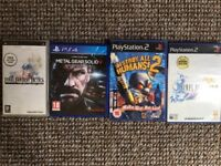 PS2/PS4/PSP Games