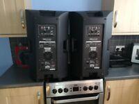 4x 2000w 15 inch Pro sound powered speakers