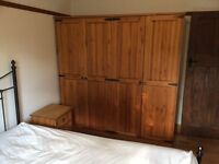 Double Wardrobes, chest of drawers and bedside units