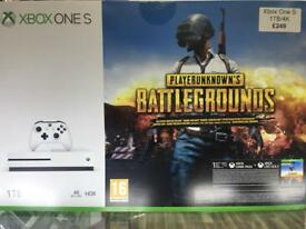 Xbox One S 1TB 4K Blue Ray With battle grounds