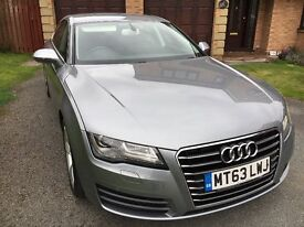 AUDI A7 SPORTBACK SE 3.0 TDI AUTO MULTITRONIC NOV 2013. SHOWROOM CONDITION, QUARTZ GREY 21,043 MILES