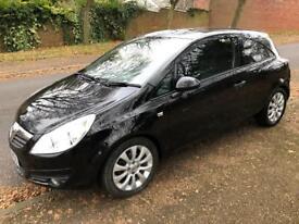 Vauxhall Corsa 1.2 energy 2011 black 39,000 miles three door new MOT full box or history