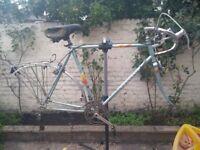Vintage Peugeot steel frame.. Ideal single speed/ Fixie conversion