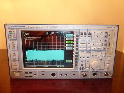 Rohde Schwarz Fsiq26 20hz - 26.5ghz Spectrum Signal Analyzer W Tracking Gen