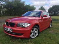 BMW 1 SERIES 2.0 118I SE 3d AUTO in Red