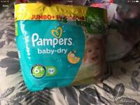 New Pampers Size 6+ Baby-dry Nappies £6 per pack