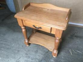 Solid pine hall table/work table
