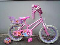 "(2140) 16"" 11"" DISNEY ENCHANTED DREAMS GIRLS CHILD MOUNTAIN BIKE BICYCLE Age: 5-7 Height:110-125 cm"