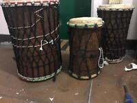 Dun dun Guinean bass drums
