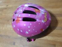 girls cycle helmet - Roxie (Halfords) Pink small size 50-56cm