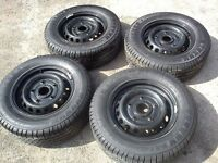"Standard Ford Transit Custom Trend 15"" Steel Wheels with Tyres, Nuts and Trims"