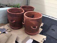 Chimney pots ideal garden plant pots/strawberry pots three available